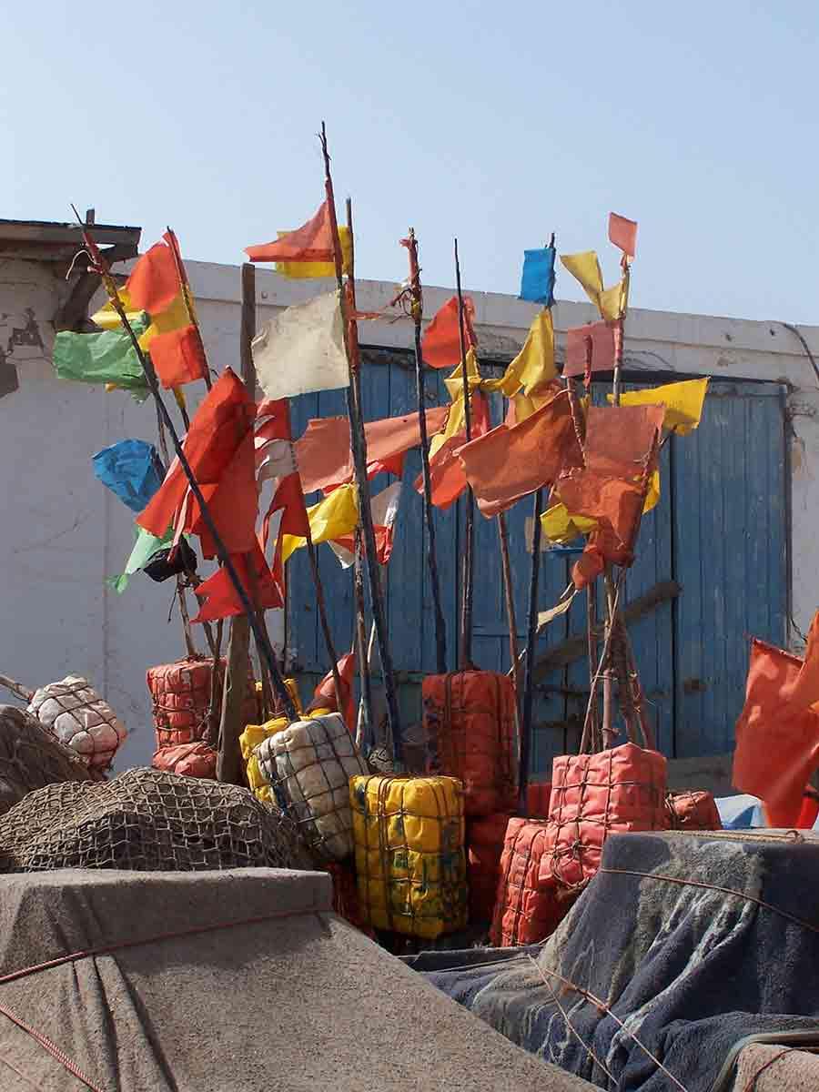 drapeaux-pour-bateaux-port-essaouira-maroc